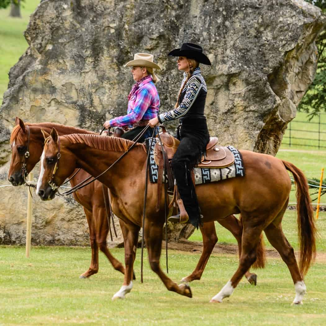 Riding on a western experience day